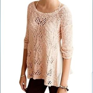 NWT Anthropologie Knit and Knotted Sylt Pullover
